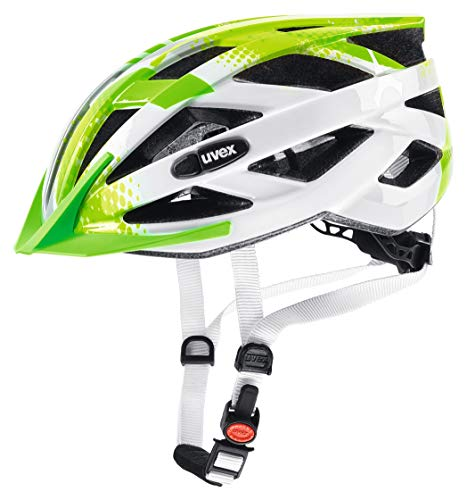 uvex Unisex Jugend, air wing Fahrradhelm, lime white